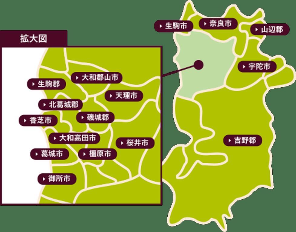 奈良県マップ