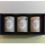 ⑦フト商品 焙煎よもぎ茶(3種の筒入り)